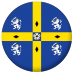 Durham Old County Flag 58mm Button Badge
